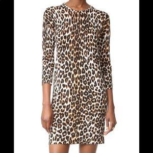 Topshop leopard print dress w long sleeves
